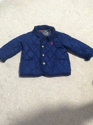 Joules Baby Boy Quilted Jacket Coat 3-6 months