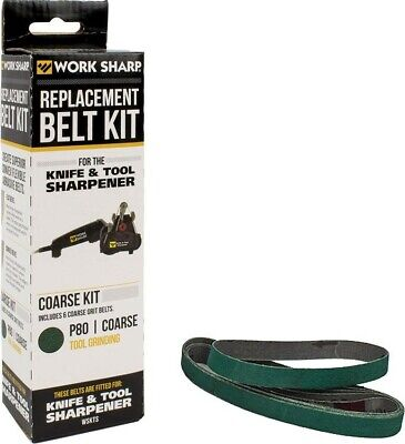 WORK SHARP 6 P80 COARSE Grit Replacement Belts For WSKTS Knife & Tool Sharpener!