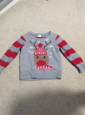 Mini Club Christmas Jumper 12-18 months Reindeer Boy Girl