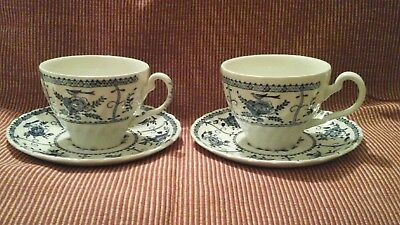 Johnson Brothers Indies 2 x Cups & Saucers in Very Good Condition