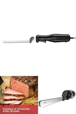 Electric Carving Knife Meat Bread Slicing Foam Cutting Steel Kitchen Baking