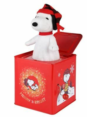 Gemmy Jack in the Box Peanuts- Snoopy Toy Kids Children Toys Christmas Holiday
