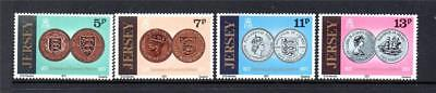 Jersey Mnh 1977 Sg171-174 Centenary Of Currency Reform