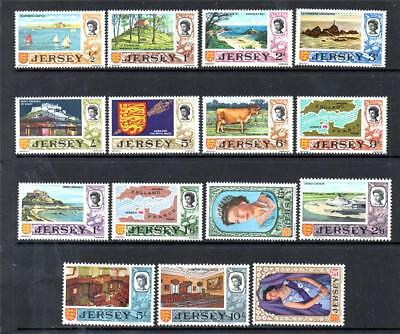 Jersey Mnh 1969 Sg15-29 Pre Decimal Definitive Set