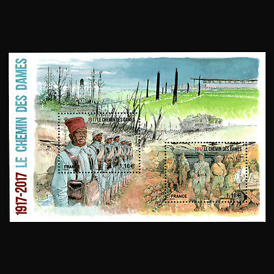France 2017 - Chemin des Dames Military War  S/S - Sc 5217 MNH