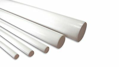 "Virgin Teflon Rod, Sm pack, 6"" lgth: 1/8"", 3/16"", 1/4"", 5/16"", 3/8"" (Pk of 5)"
