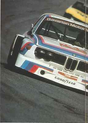 1977 Bmw Racing Prestige Brochure Catalog Booklet 30 Pages Mint