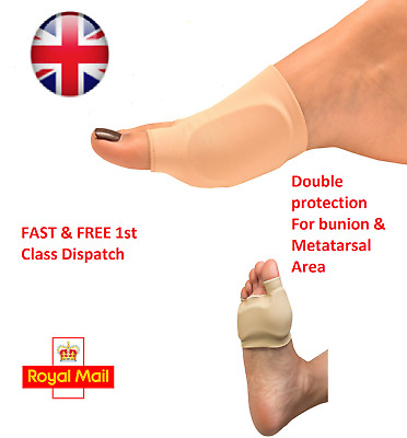 2 x Double GEL Protection Sleeve Metatarsal Ball Foot BUNION Pad Support Blister