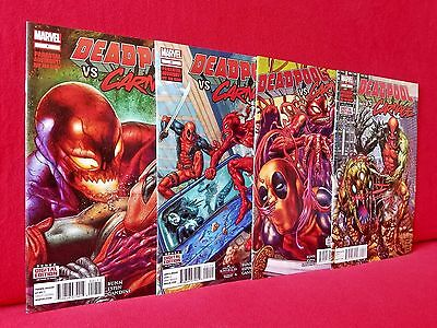 Deadpool vs Carnage #1 2 3 4 Complete Series Set! First Printings NM 2014