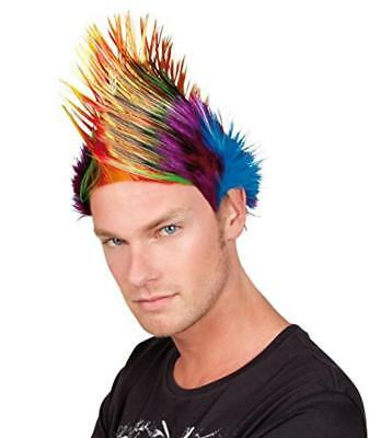 (TG. One Size) Boland 86348 - Parrucca Cresta Spiky Mike, Multicolore - NUOVO