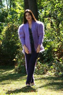 MOHAIR CARDIGAN with 2 ANGORA SWEATERS and PANTS