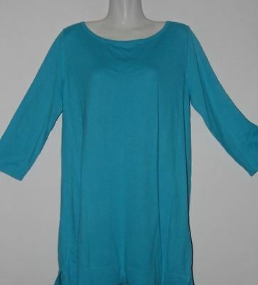 Gap Large Maternity Long Sleeves Turquoise Top Casual Career