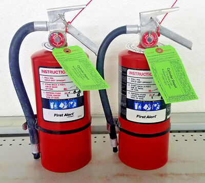 Fire Extinguisher ABC Dry Chemical Rechargeable First Alert - Two Pack - 4.5lb