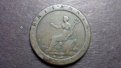 1797 United Kingdom One Penny Coin