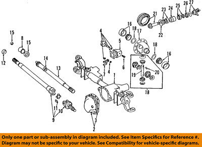 Dodge CHRYSLER OEM 84 93 Ramcharger Front Axle Universal Joint dodge ram 1500 front suspension diagram car tuning wiring diagrams