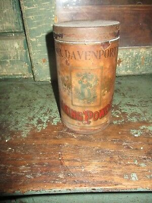 Rare Early Shickshinny PA Baking Powder Tin Full General Store Primitive AAFA