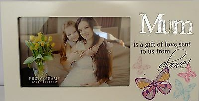 """""""mum Is A Gift Of Love Sent To Us From Above"""" Photo Frame Christmas Gift Bnib"""