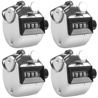 Tally Counters 4x Handheld Clickers Count People Sports Hobbies Stock - 4 Digit