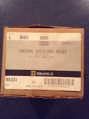 Square D 9065 SDO5, Thermal Overload Relay,NEW