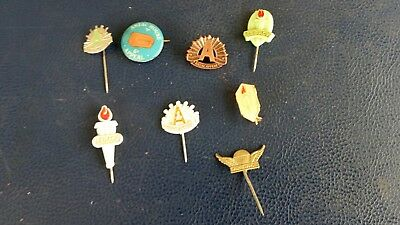 Anzac Pin Lot Vintage Wings Appeal Badge  Day And Legace Anzac House  Appeal