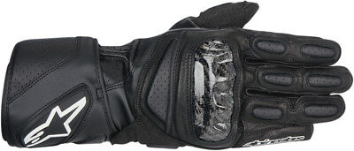 ALPINESTARS SP-2 Vented Long Cuff Leather Motorcycle Gloves (Black) M (Medium)