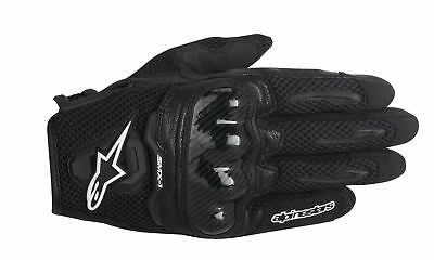 ALPINESTARS SMX-1 AIR Leather/Mesh Motorcycle Riding Gloves (Black) Large