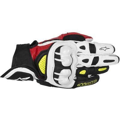 ALPINESTARS GPX Leather Motorcycle Gloves (Black/Red/Yellow) XL (X-Large)