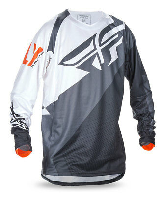 FLY RACING MX MTB BMX 2017 EVOLUTION 2.0 Jersey (Black/White/Orange) S (Small)