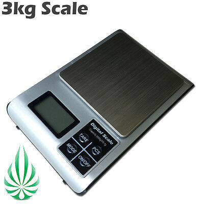 3kg Hydroponics Digital Electronic Kitchen Scale 0.1g Accurate Weight With Tray