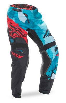 FLY RACING MX Motocross MTB Kids 2017 Kinetic CRUX Pants (Teal/Red) US 18 Youth