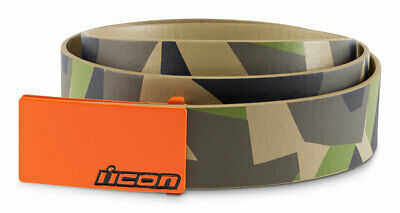 ICON Deployed Polyurethane Belt w/ Cast Aluminum Buckle (Camo) S (Small)