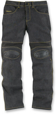 ICON OVERLORD Motorcycle Riding Pants/Jeans (Denim Blue) 36