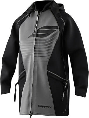 SLIPPERY Wetsuits - Men's Neoprene Tour Coat (Black) LG-XL