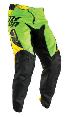 THOR MX Motocross Kids 2017 FUSE DAZZ Pants (Flo Green/Yellow) US 28 (Youth)