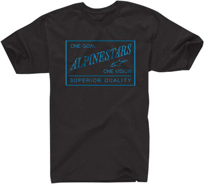 ALPINESTARS SUPERIOR QUALITY Tee Regular Fit T-Shirt (Black) M (Medium)