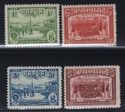 1934 Papua. SC#110-13 SG#146-49. Mint, Never Hinged, Very Fine.