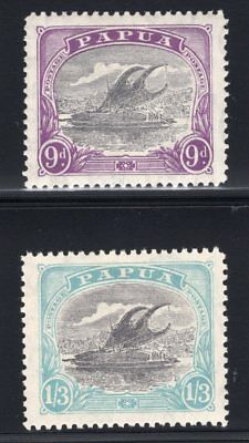 1932 Papua. SC#92-93 SG#127-28. Mint, Lightly Hinged, Very Fine.