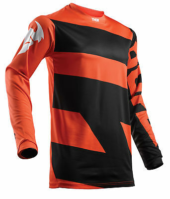 THOR MX Motocross Kids 2018 PULSE LEVEL Jersey (Black/Orange) YM (Youth Medium)
