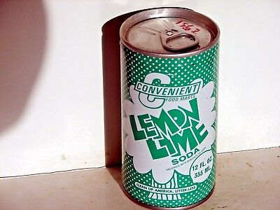 Convenient Lemon Lime; Inter-State Canning; Louisville, KY; steel soda pop can
