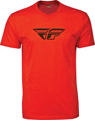 FLY RACING F-Wing Tee Short Sleeve T-Shirt (Red) L (Large)