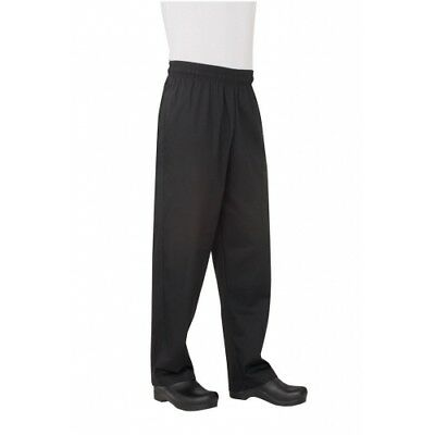 Chef Works Men's  Essential Baggy Black Pant Large L (NBBP-000-L)