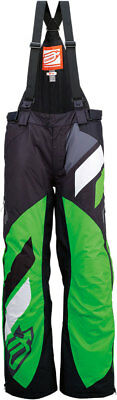 ARCTIVA Snow Snowmobile Men's 2017 COMP Insulated Bibs/Pants (Black/Green) Large