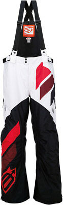 ARCTIVA Snow Snowmobile Mens 2017 COMP Insulated Bibs/Pants (Blk/Wht/Red) Medium