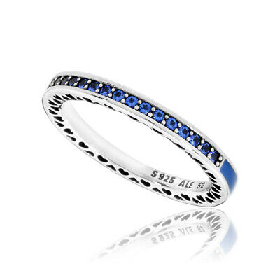 ebca0a7ba Pandora Women's Blue Radiant Hearts Of Ring, Size 48 Jewelry 191011Ncb-48