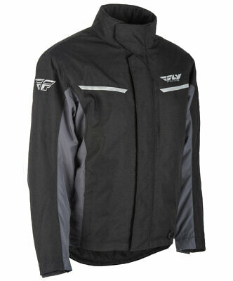 Fly Racing Snow Snowmobile Men's AURORA Jacket (Black/Grey) L (Large)