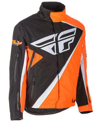 Fly Racing Snow Snowmobile Men's SNX Jacket (Orange/Black) L (Large)