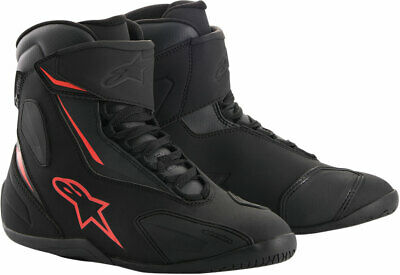Alpinestars FASTBACK-2 Drystar Leather Riding Shoes (Black/Gray/Red) 9