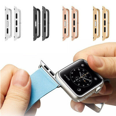 Stainless Steel Watchband Strap Adapter Connector 38 42mm For Apple Watch iWatch