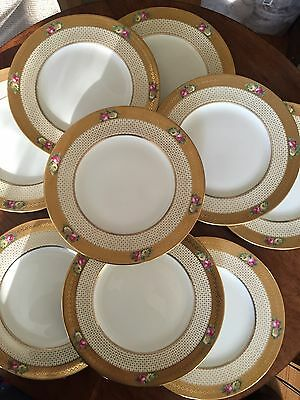 Antique Cauldon Service Dinner Plates Set Of 11