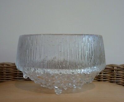 "IITTALA  ""ULTIMA THULE""  Bowl  Designed by Timo Sarpaneva   -  Made in Finland"